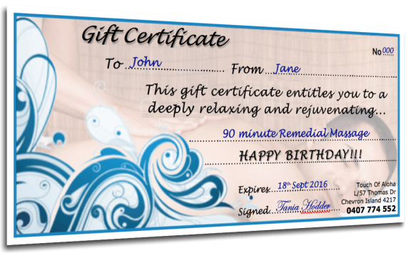 Massage Gift Voucher